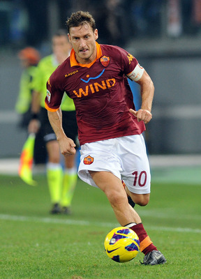The Gladiator: Francesco Totti has played for Roma his entire career. (Pic: Getty)