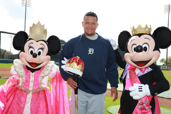 Cabrera actually got a crown for winning the Triple Crown.