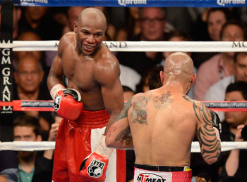 Floyd Mayweather facing Miguel Cotto