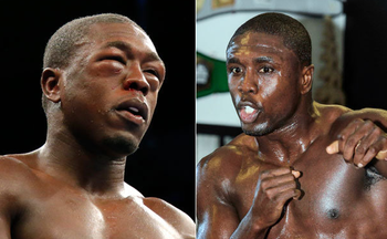Berto's face before, right, and after, left.