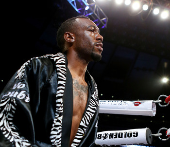 Austin Trout entering the ring against Miguel Cotto.