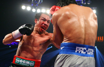 Juan Manuel Marquez, left, and Manny Pacquiao, right.