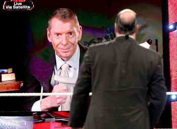 Mr. McMahon made a shocking challenge to Paul Heyman on Raw. Photo Courtesy of WWE.com