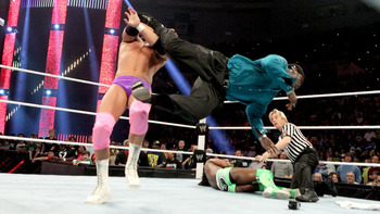 R-Truth made an immediate impact in his surprise return at Raw. Photo Courtesy of WWE.com