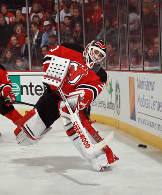 Brodeur handles the puck better than any other goaltender.