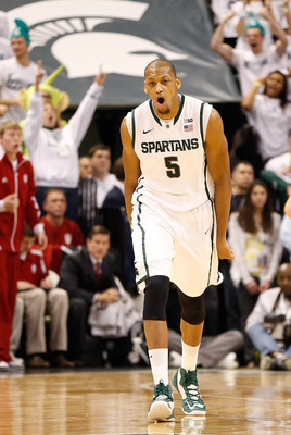 Adreian Payne had a pair of three-pointers in the first half.