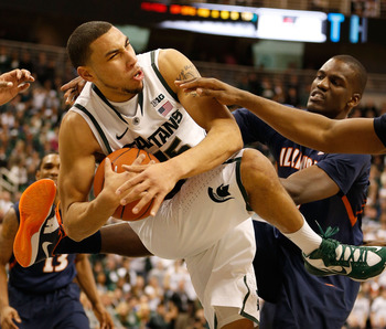 Denzel Valentine continues to develop, but he wasn't as sharp Tuesday as he's been of late.