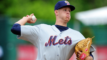 It won't be long before Zack Wheeler joins Matt Harvey at the top of the Mets' rotation. Courtesy of Kevin Pataky, MiLB.com