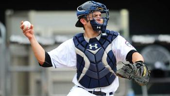 Travis d'Arnaud's health is the only thing holding him back right now. Courtesy of Kevin Pataky, MiLB.com