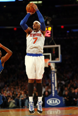 Melo can easily get hot from behind the arc.