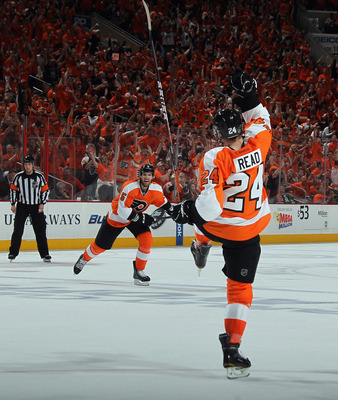 Matt Read is the Flyers' leading goal-scorer.