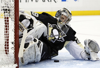 Marc-Andre Fleury has been a highlight of the Penguins' performance thus far.