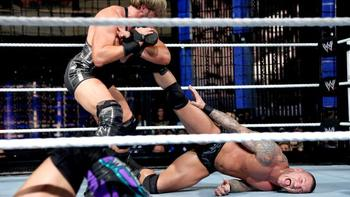Jack Swagger locks in the Patriot Act on Randy Orton. (Courtesy of WWE.com)