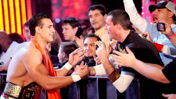 Alberto Del Rio makes his entrance for his match against Big Show. (Courtesy of WWE.com)