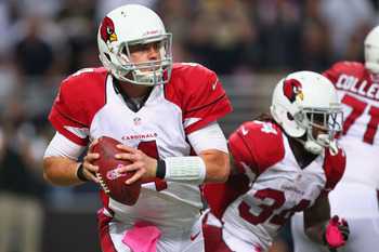 Arizona's Kevin Kolb drops back to pass against St. Louis on Oct. 4.