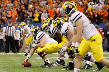Michigan returns six offensive starters in 2013.