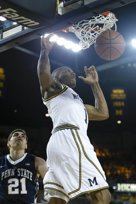 Glenn Robinson III will need to be active along the baseline to help Michigan sneak past Illinois.