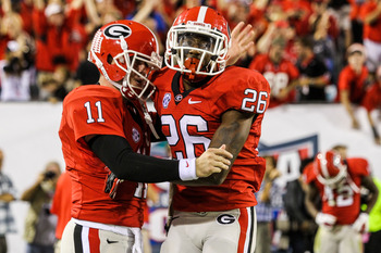 Aaron Murray and Malcolm Mitchell