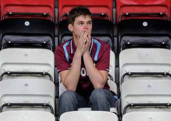 Relegation for West Ham in 2011 was a bitter blow for fans.
