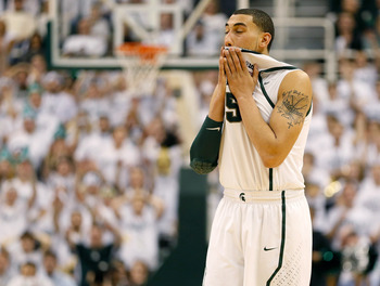 Denzel Valentine has been a steady frosh for the Spartans in 2012-13.