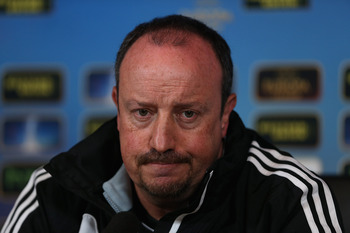 Rafa Benitez and Chelsea need to win on Sunday to stay ahead of the chasing pack