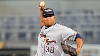 Bruce Rondon has the best fastball velocity in the minors. Does he have anything else? Courtesy of Mark LoMoglio, MiLB.com