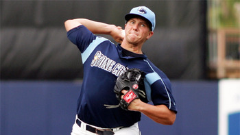 Jake Thompson's size and command could lead him to a big breakthrough in 2013. Courtesy of Nick Martinez, MiLB.com
