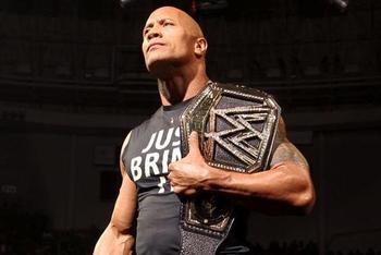 The Rock brought honor back to the WWE Championship. Photo by: WWE