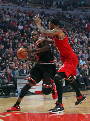 Luol Deng was limited to six points on 3-of-8 shooting in loss to Heat.