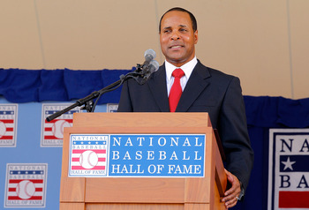 Barry Larkin at his induction into the Baseball Hall of Fame.