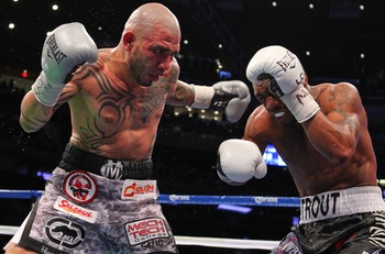 Miguel Cotto during his previous bout with Austin Trout.