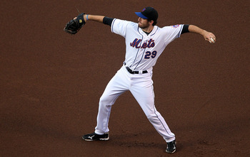 Ike Davis throws the ball around during a 2010 game at Citi Field in New York against the Cincinnati Reds.