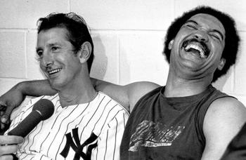 Martin had a complicated relationship with Reggie Jackson (right). AP Photo