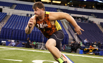 Ohio offensive guard Eric Herman at the NFL Scouting Combine