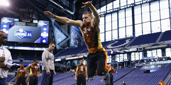 Standford tight end Zach Ertz at the scouting combine