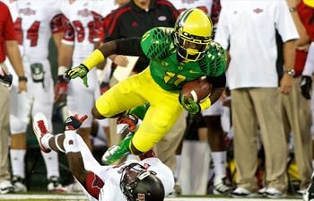 Oregon wide receiver Bralon Addison