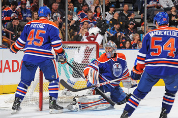 If Khabibulin can continue to play well, the Oilers may be able to trade him for an asset.