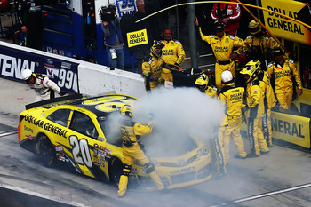 Matt Kenseth's great day unfortunately ended this way.