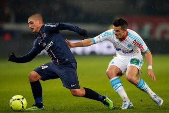 Verratti currently looks uncomfortable and less composed on the ball for PSG