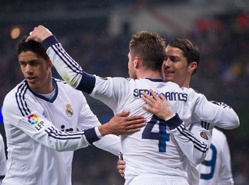 Are Varane (L) and Ramos Madrid's best central-defense duo?