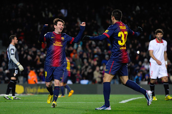 Cristian Tello (R) could play a big role at Camp Nou on Tuesday.