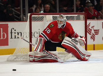 Crawford and the Blackhawks have yet to lose in regulation.