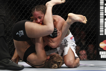 Ronda Rousey and Liz Carmouche - Esther Lin/MMAFighting