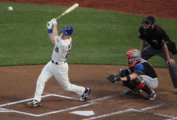Daniel Murphy launches a ball against Miami, Aug. 7.