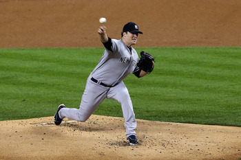 The Yankees' Phil Hughes throws a pitch against Detroit in Game 3 of the ALCS.