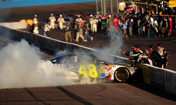 Jimmie Johnson decided to burn the house down with his fourth Phoenix victory in 2009.