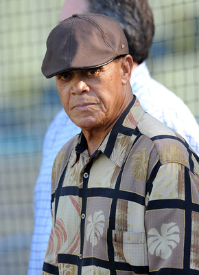 Maury Wills: Much less of a menace in this uniform than a Mariner uniform.