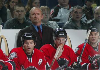 The Alberta native behind the bench in 2003.