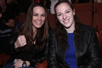 Newly Signed UFC bantamweights Alexis Davis and Sarah Kaufman - Esther Lin/MMAFighting