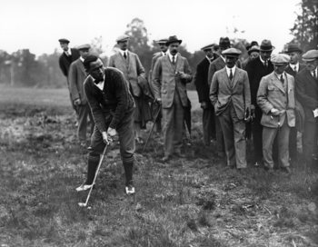 Walter Hagen prepares to launch a shot in 1920.